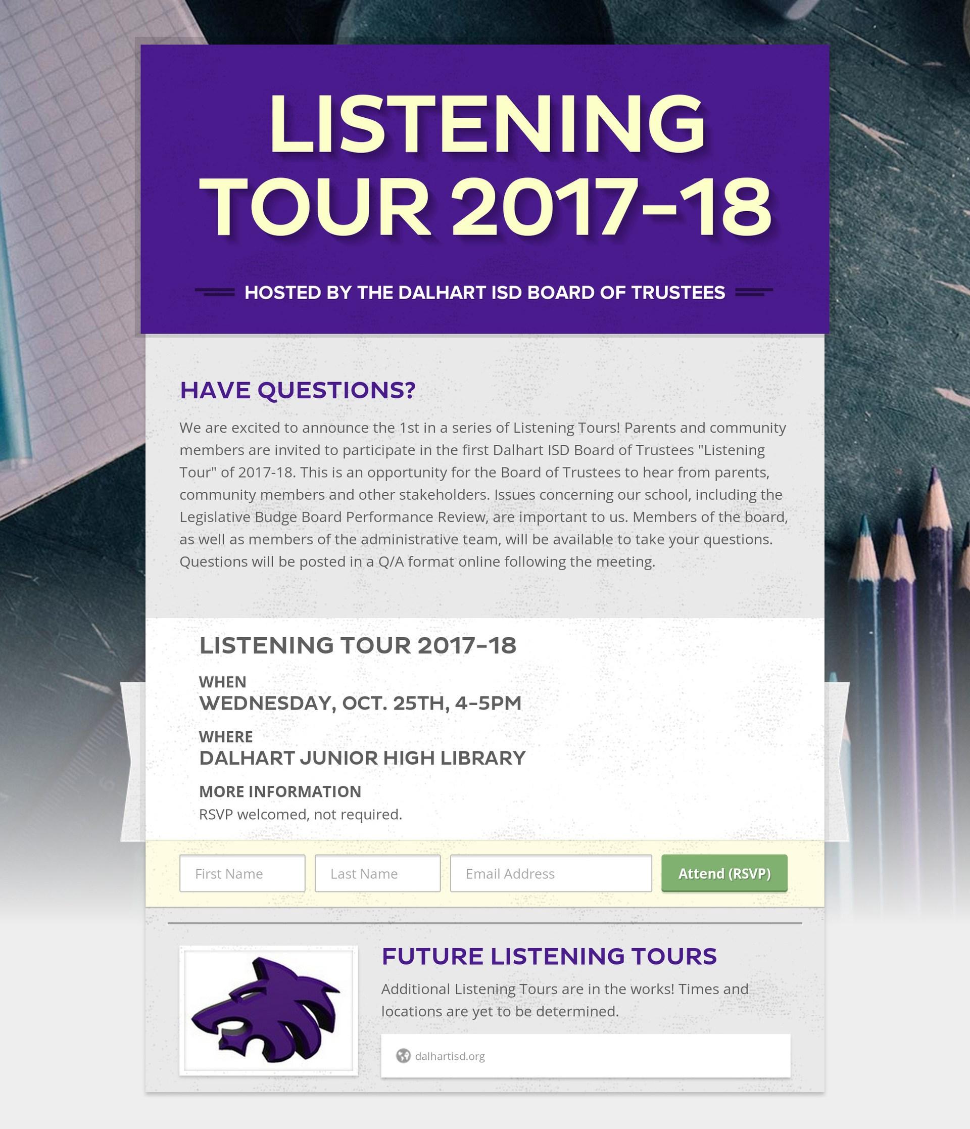Listening Tour #1