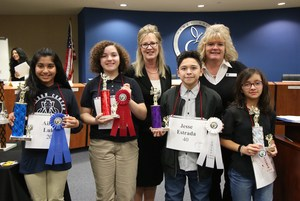 Aileen Luke, Ahnika Pena, Jesse Estrada, and Martina Navarrete where the top four Spelling Bee winners.