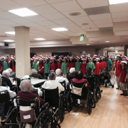 Brightwood Students performing for the residents of Keiro