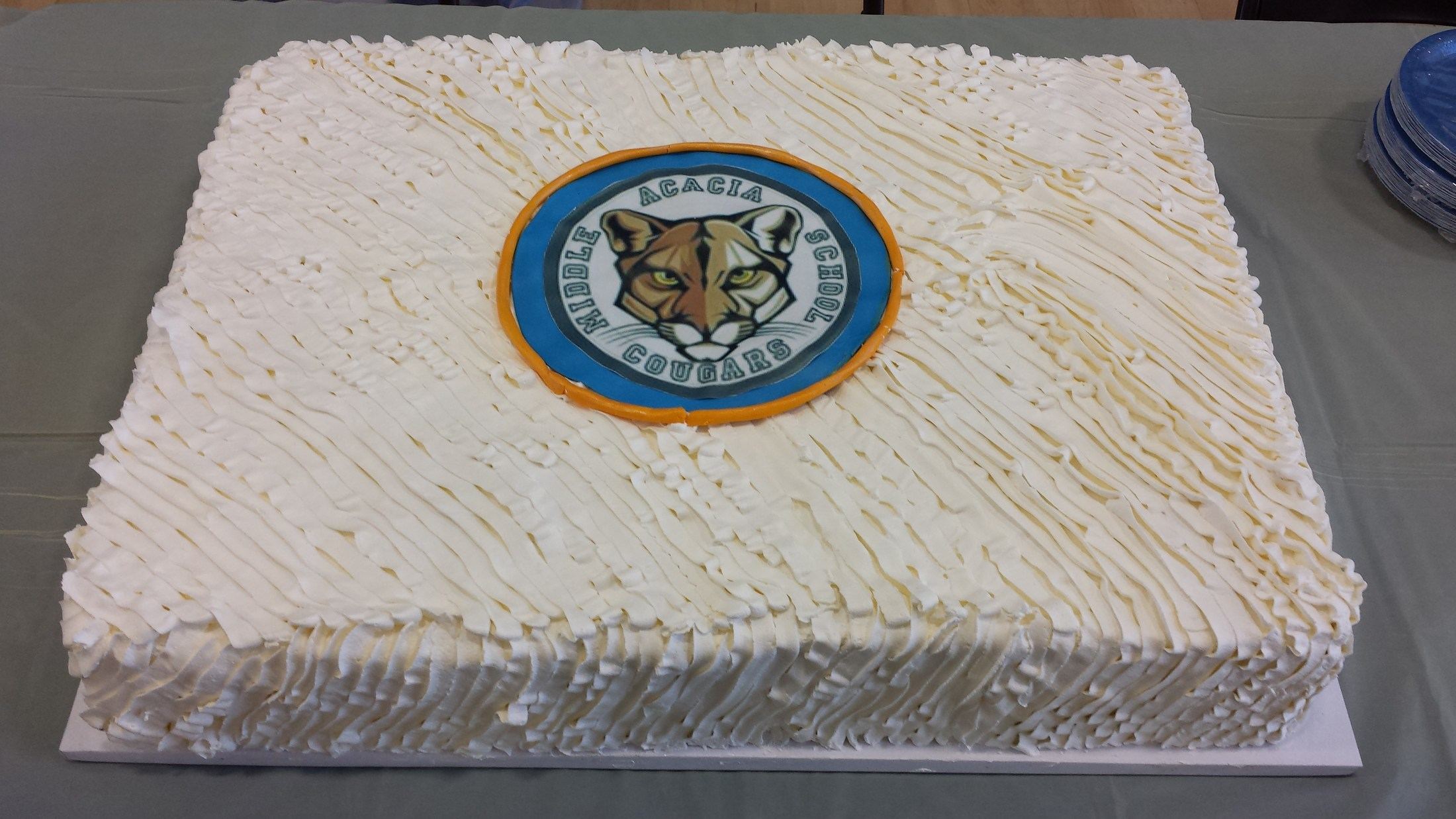 Cake provided by Nutrition Services