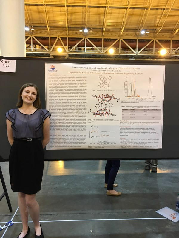 Sarah Nagy, '16, presented a poster at the 255th National Meeting of the American Chemical Society.
