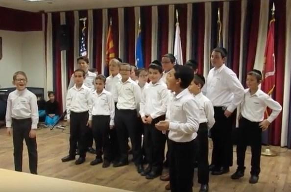 kol torah boys choir at va center