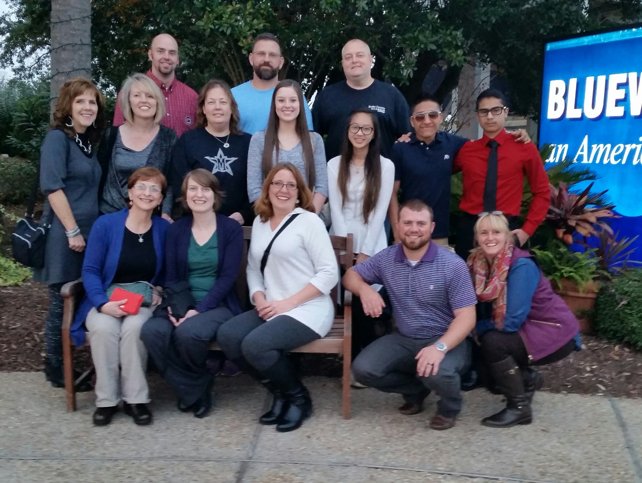 McDowell Believe and Achieve Team at training in Wilmington
