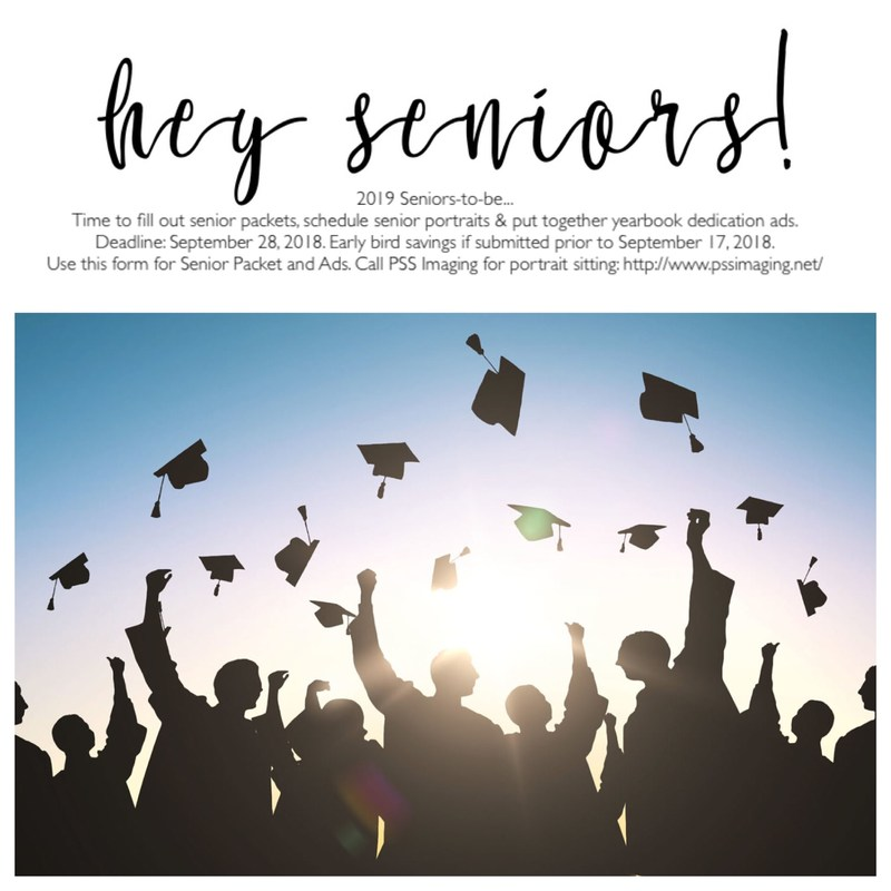 SENIORS 2019: It's time to fill out Senior Packets for next year. Already! Thumbnail Image