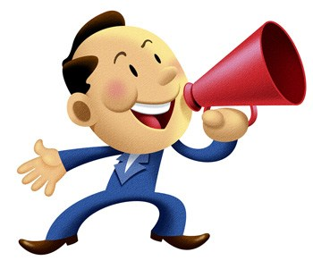clipart of man holding a microphone