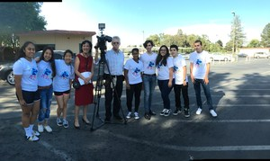 Del Mar High student Sonali Ranaweera and group Recycling Picture 3