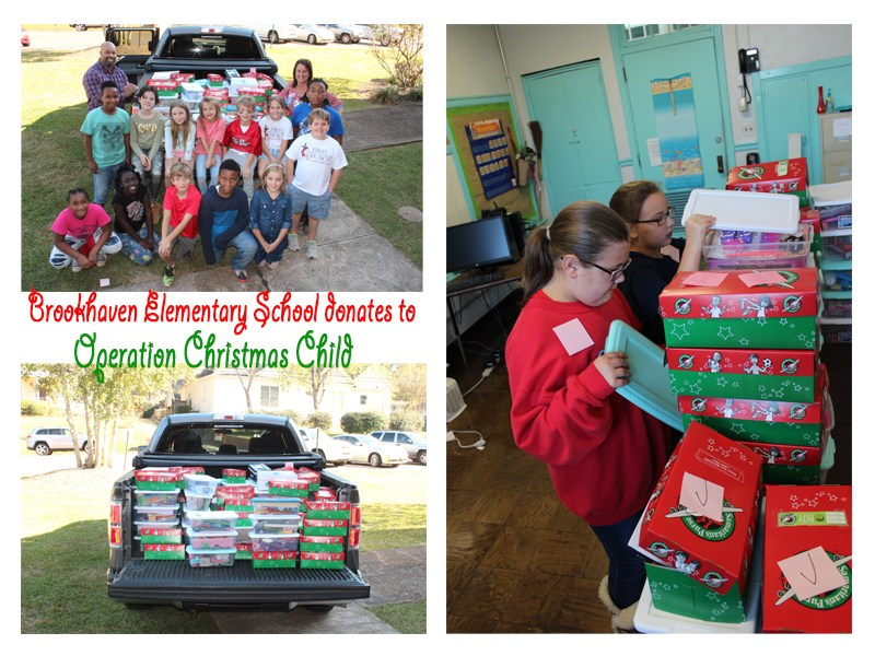 Brookhaven Elementary School donates to Operation Christmas Child in Memory of Kathy Shackelford Thumbnail Image
