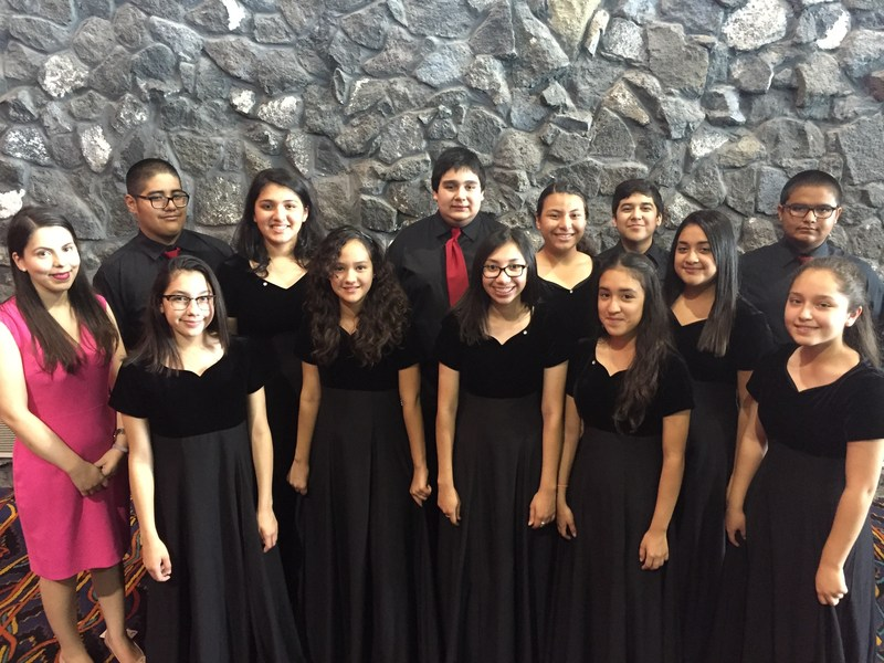 K. White Jr. High students compete for TMEA Region XV Middle School Choir.
