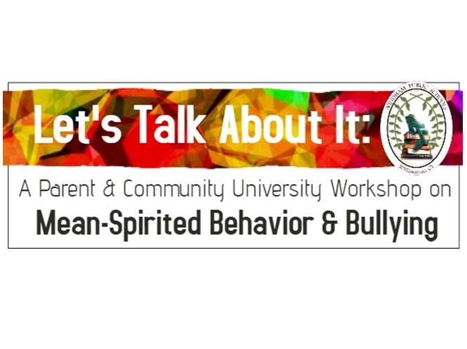 PCU Workshop March 21: Mean-Spirited Behavior & Bullying Thumbnail Image