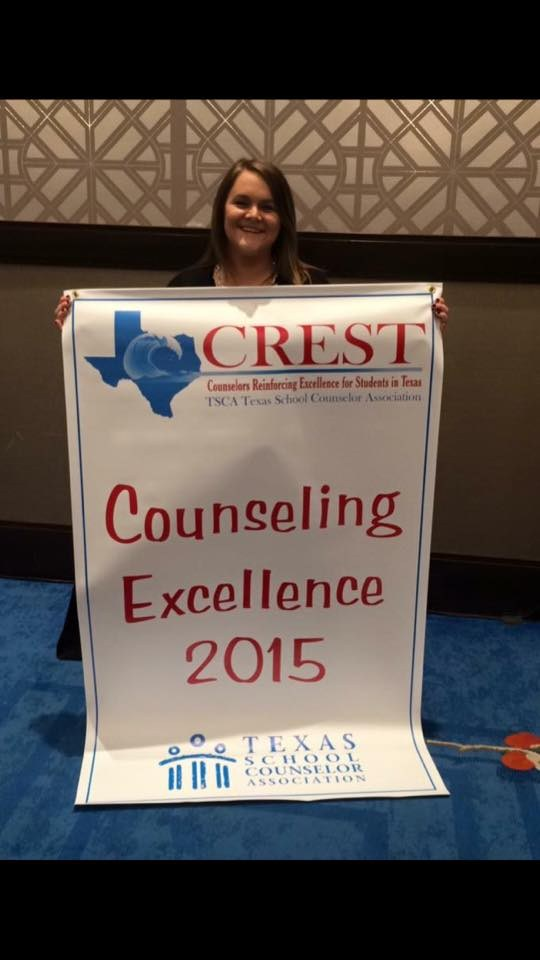 Mrs. Macal receives the CREST Award for 2015