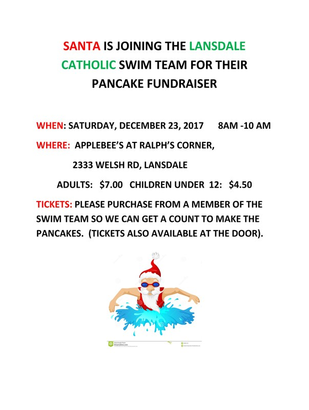 LC Swimming & Diving Team Pancake Fundraiser Featured Photo