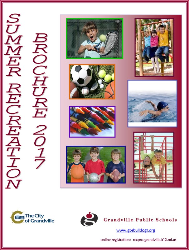 cover of Community Ed rec brochure with photos of kids playing outside