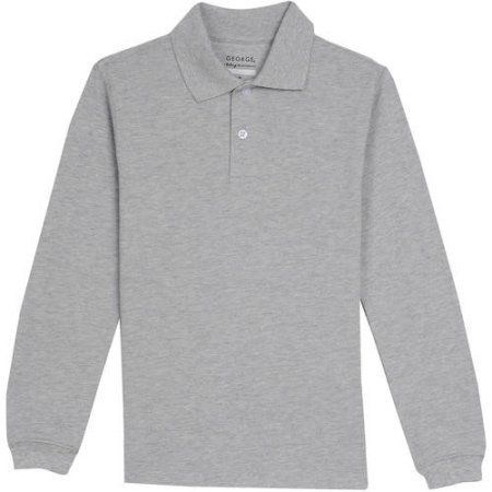 Gray Long Sleeve Polo
