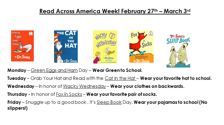 Read Across America Information