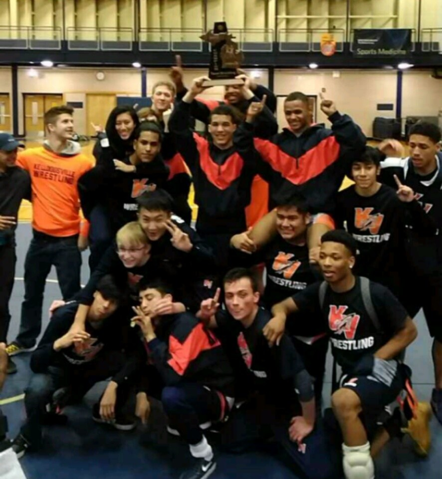 Wrestling team wins District Title for the 2nd year in a row