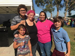 Compton Unified Board President Satra Zurita and Compton residents