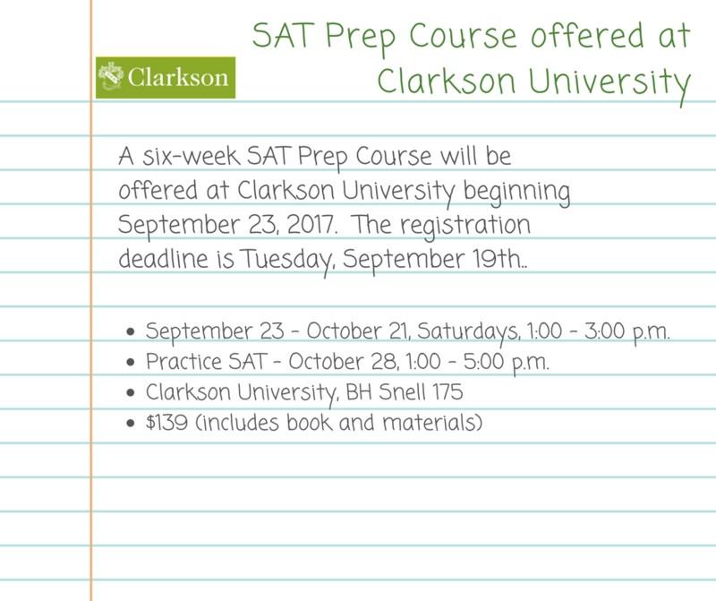Clarkson University Offers SAT Prep Course