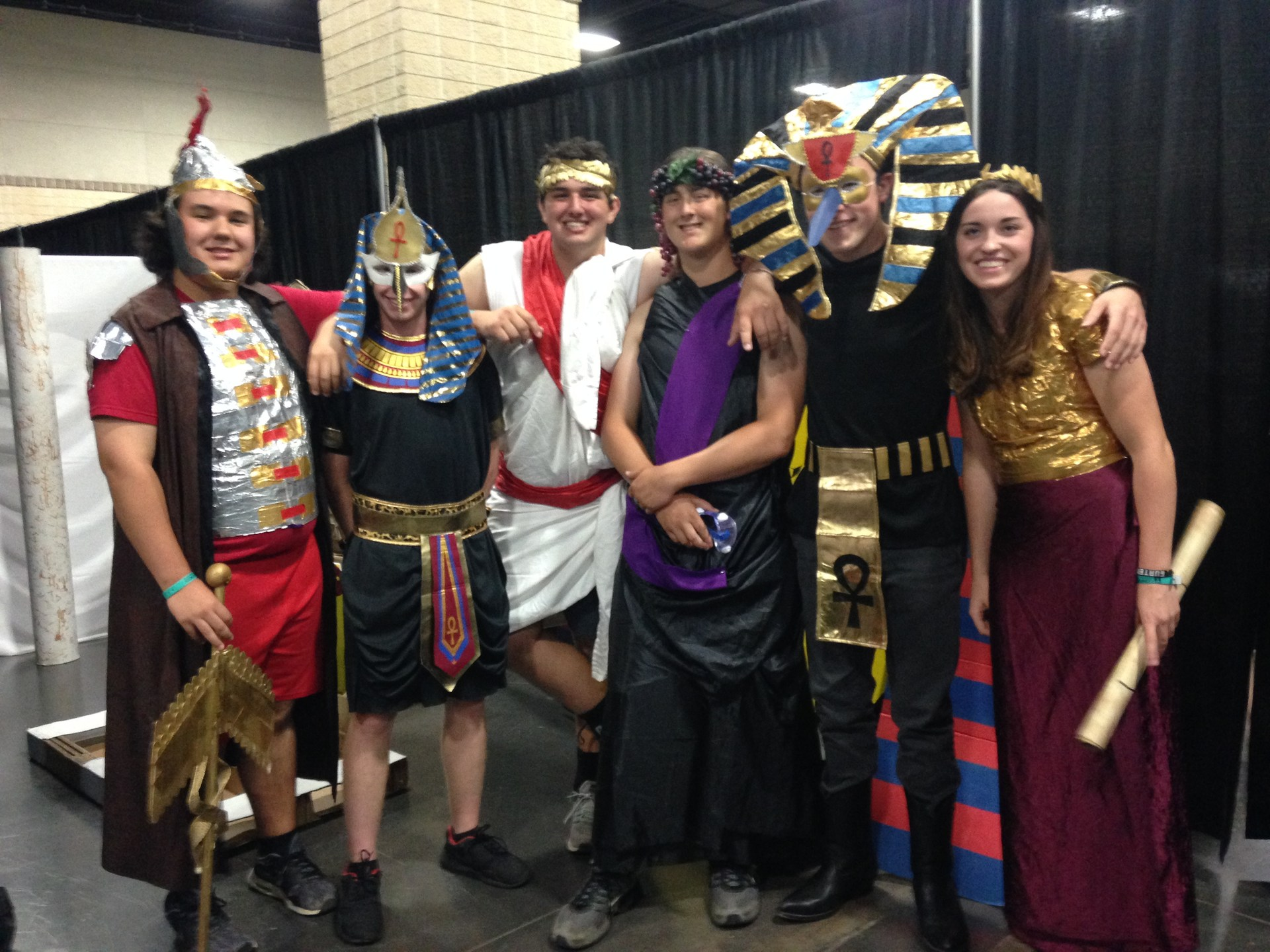 DI team in Egyptian costumes