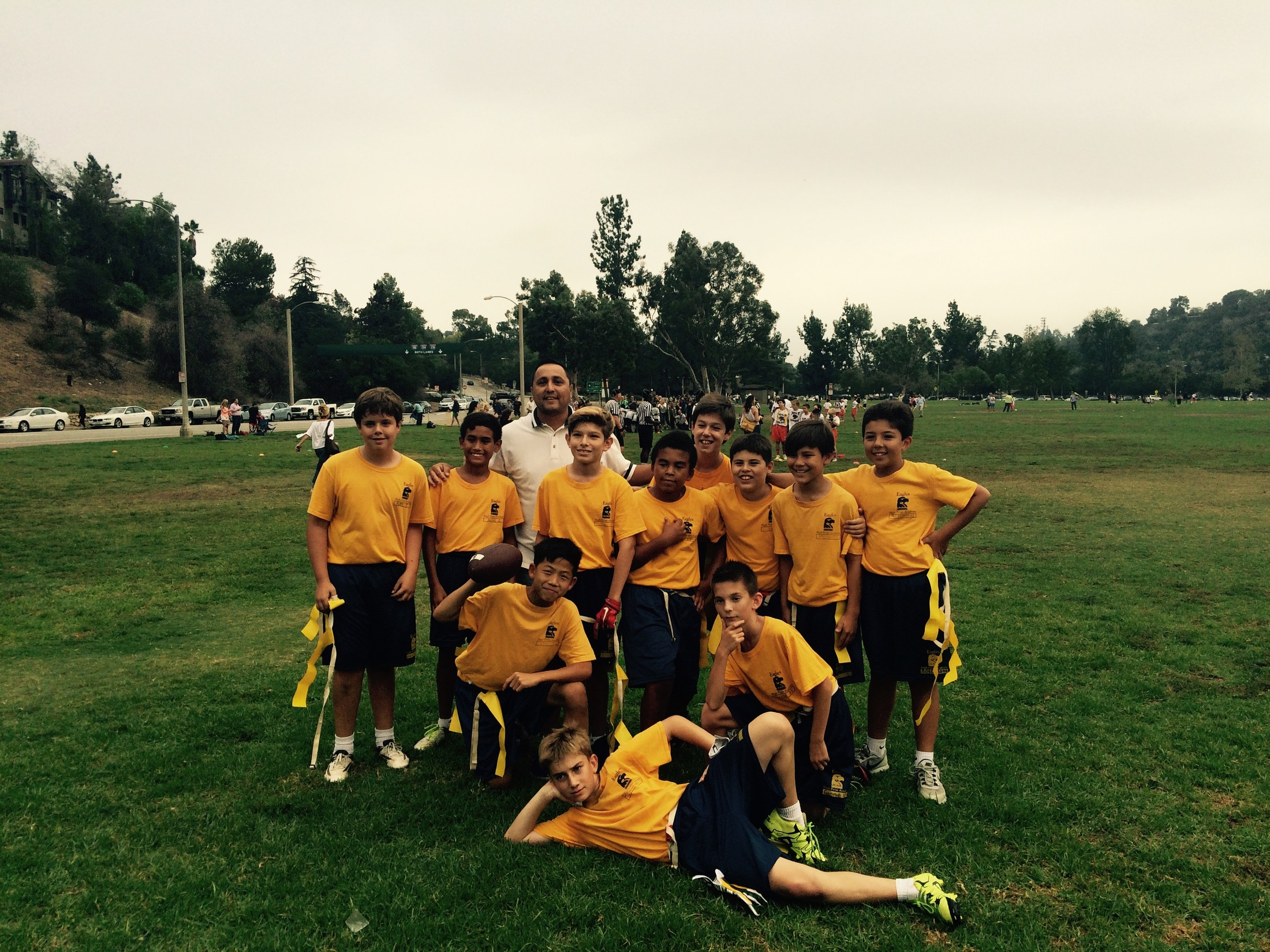 Boys flag football team