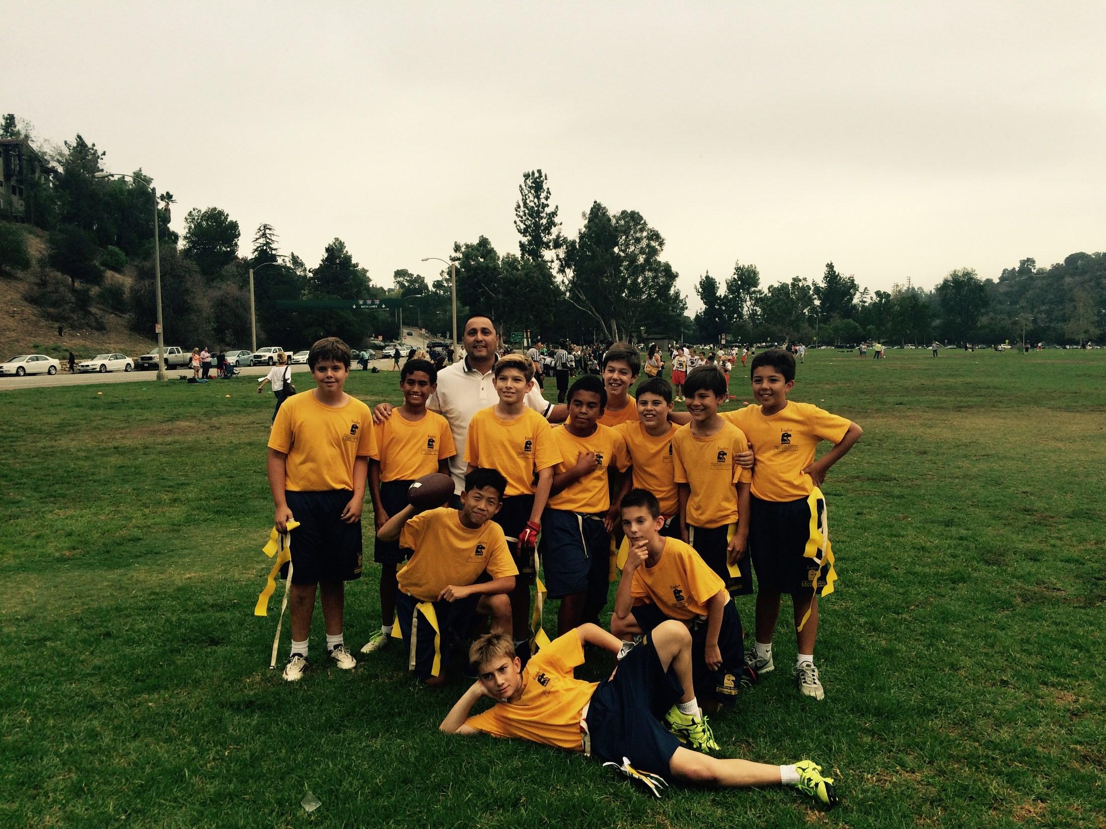 Boys flag football team
