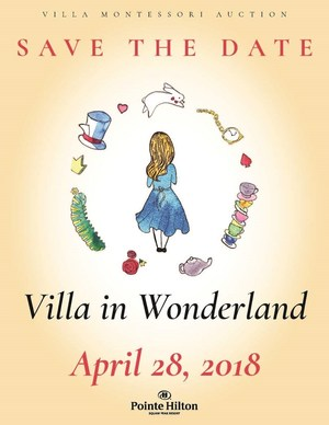 Save the Date! Villa in Wonderland, Annual Auction to be held on April 28, 2018