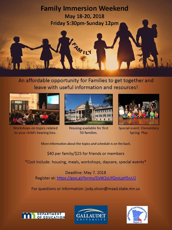 RESCHEDULED - FAMILY IMMERSION WEEKEND! Thumbnail Image