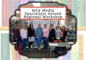 Eight School Librarians at Regional Workshop