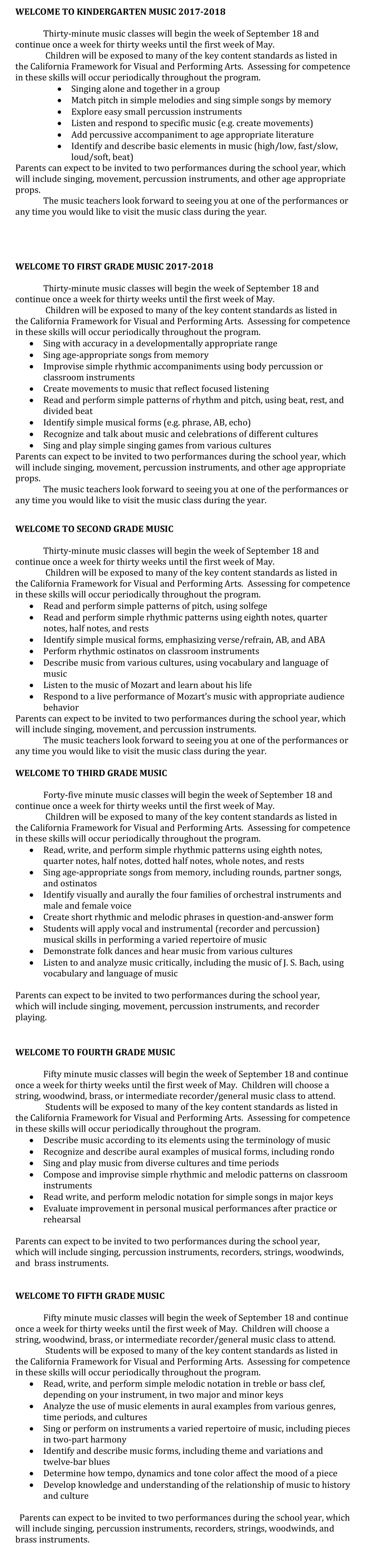 MusicContentStandards
