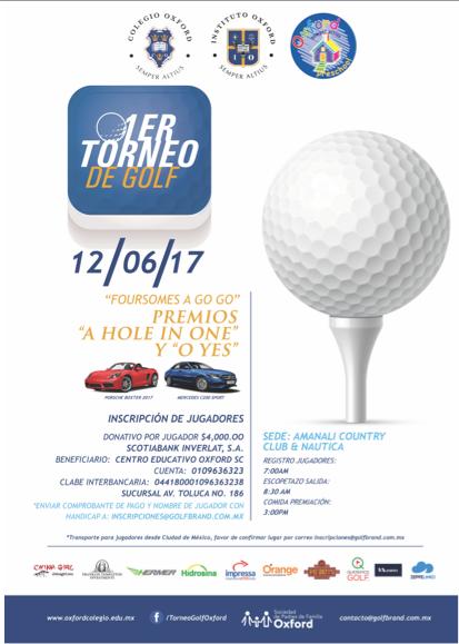 Primer Torneo de Golf Oxford Featured Photo