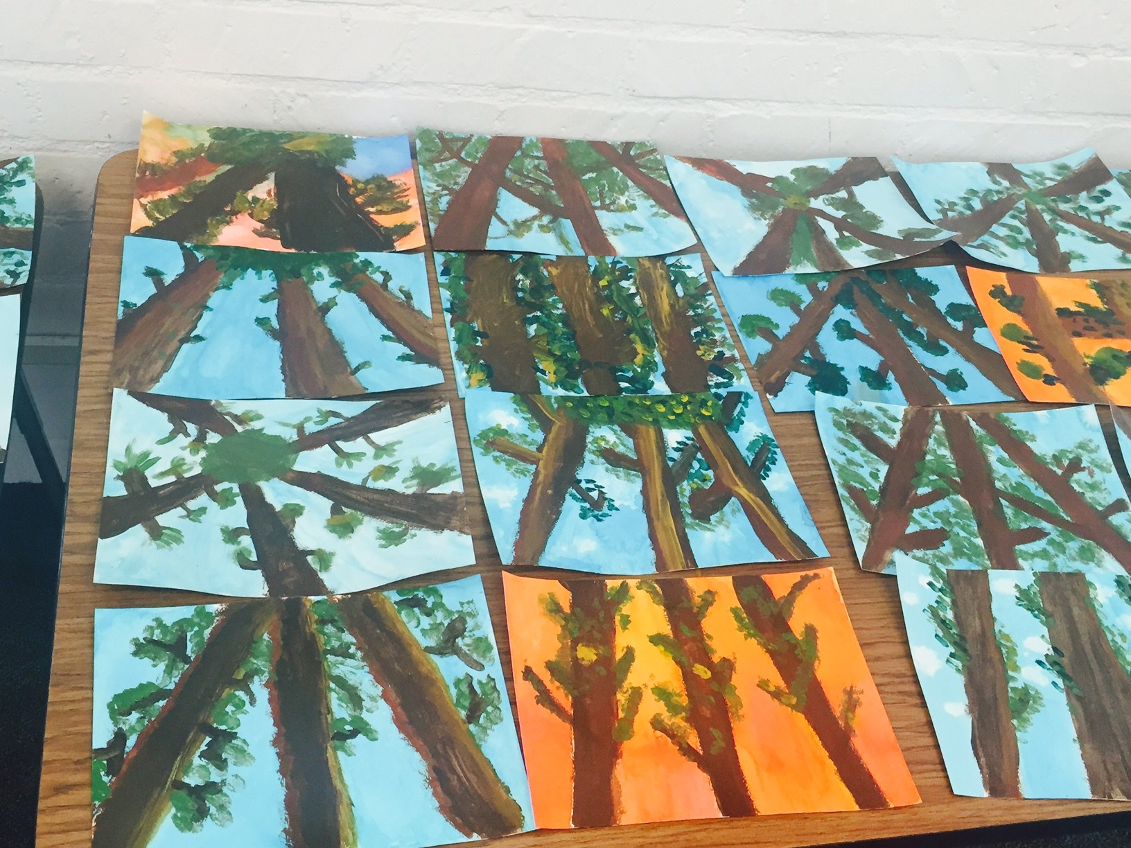 Sample student art projects
