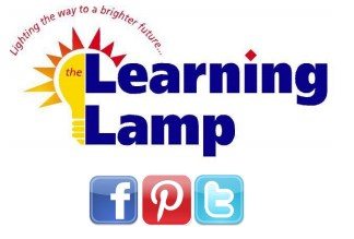 The Learning Lamp logo, lighting the way to a brighter future