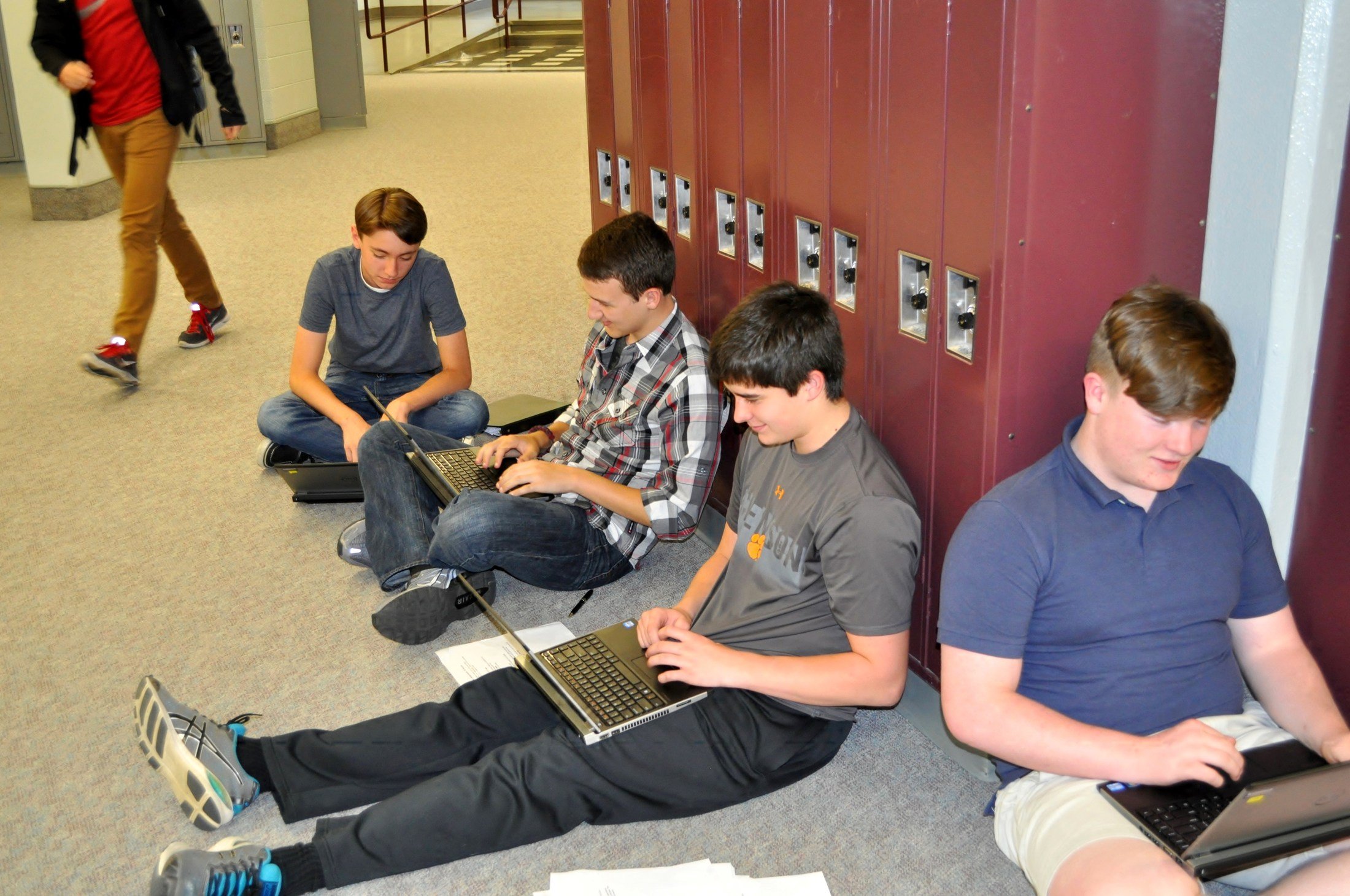 Group of students on laptops