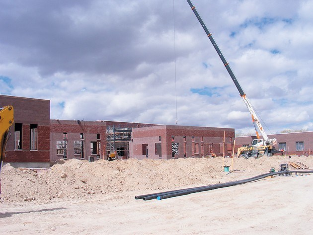 Dugway School being Built