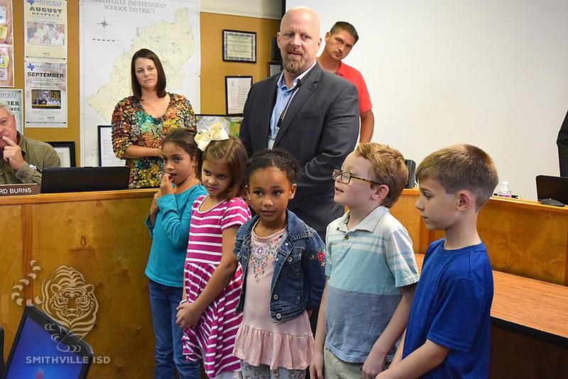 Students Lead Pledge at October Board Meeting Thumbnail Image