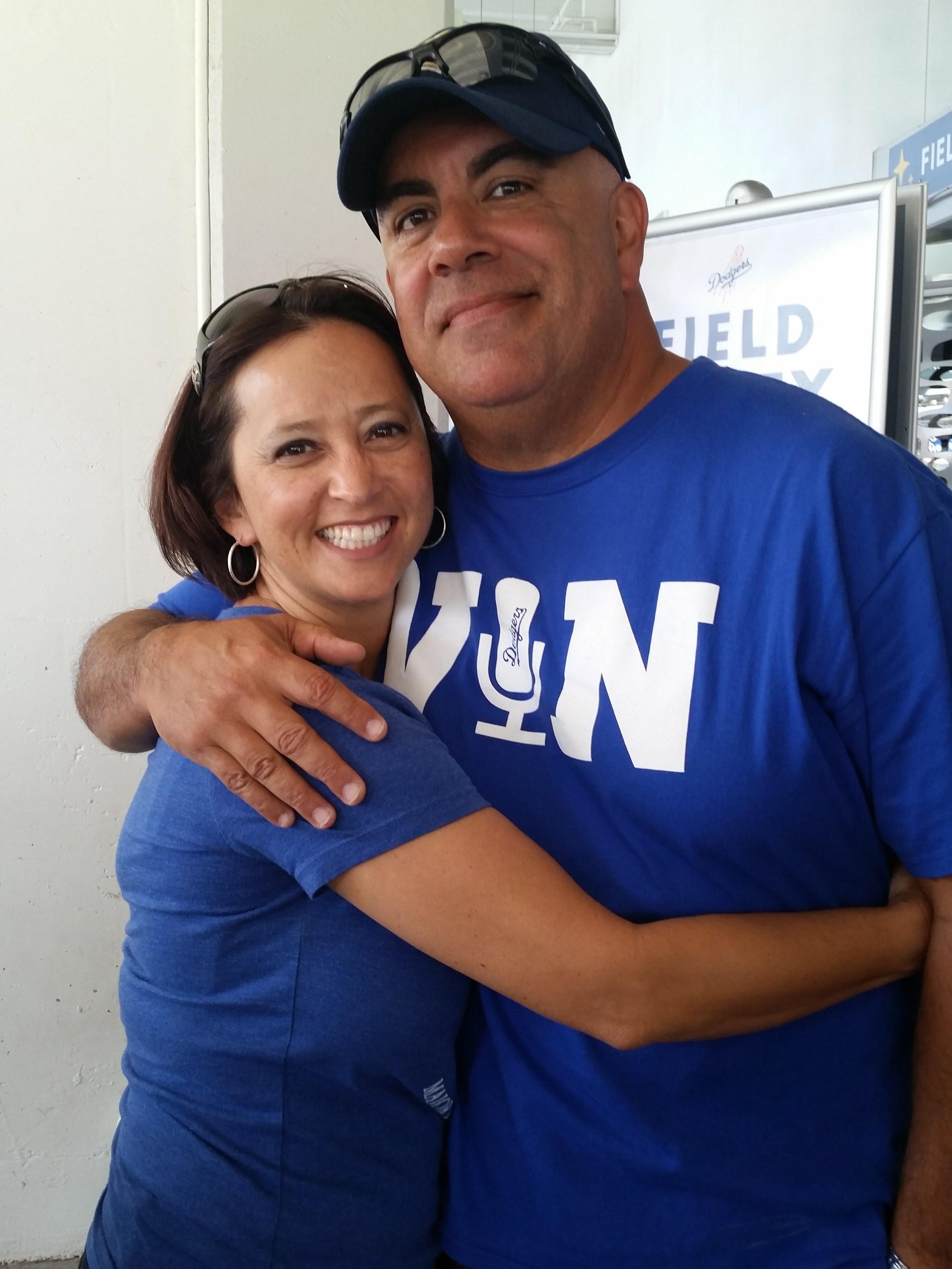 Mr. and Mrs. Perdomo Dodger Game