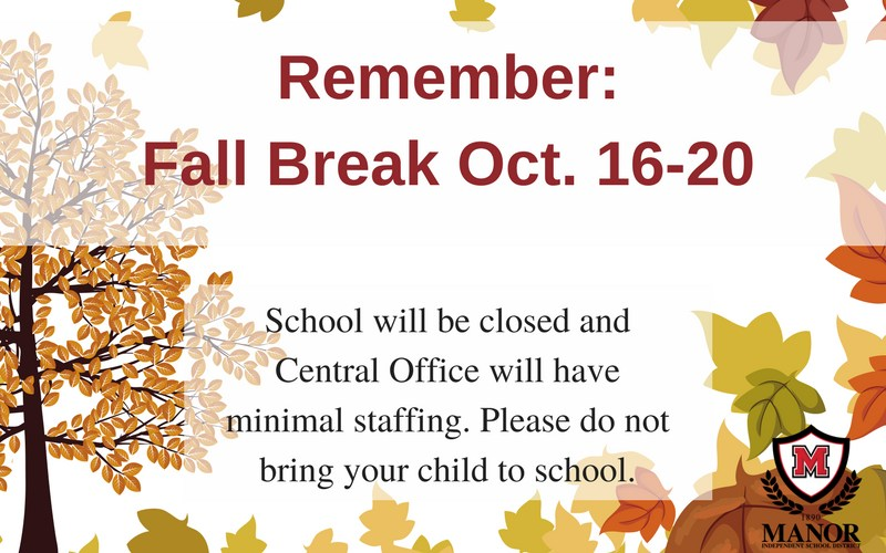 Information and details about the MISD Fall Break and YMCA full-day camps Thumbnail Image