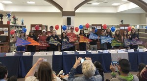 Students who have signed with colleges
