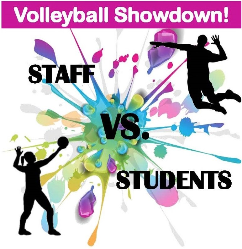 Faculty vs. Student Volleyball Game Image