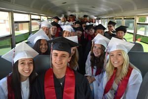 EVHS Seniors loaded on the bus headed for Terrace Heights Elementary.