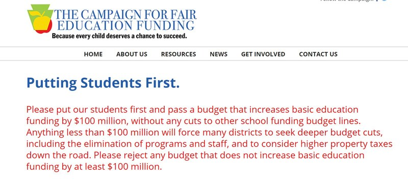 Please tell our elected officials to support our students and communities! Thumbnail Image