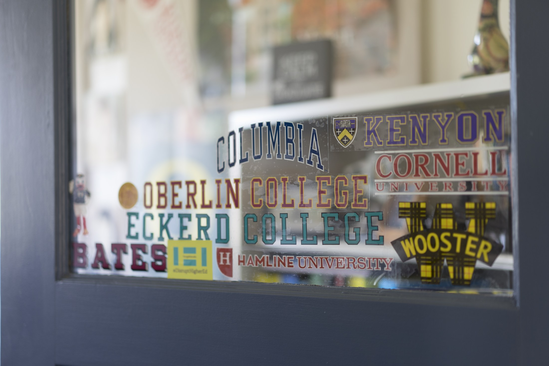 stickers of different colleges