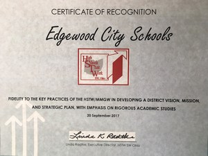 Certificate from HSTW