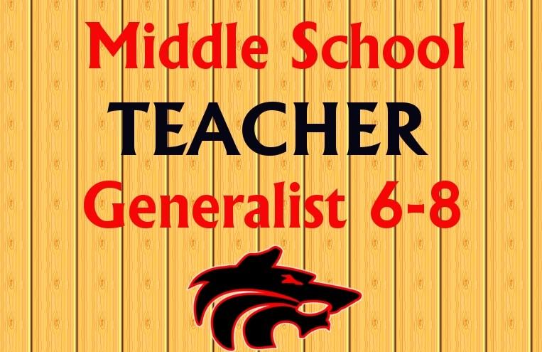 Middle School Generalist Teacher Needed