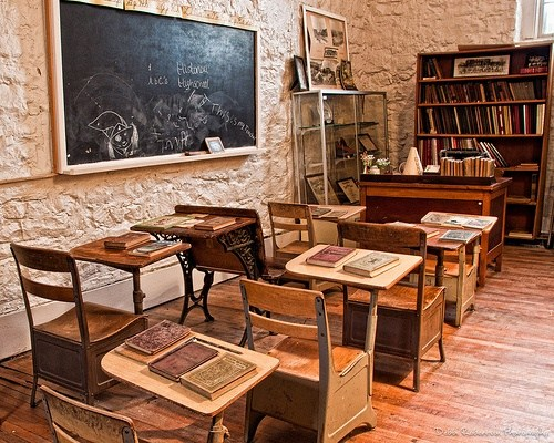 Original classroom in Rock Schoolhouse