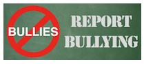 No Bullies - Report Bullying logo