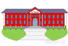 Clip art of a school building