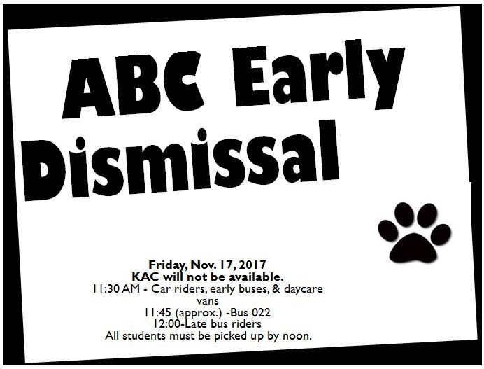 ABC EARLY DISMISSAL Featured Photo