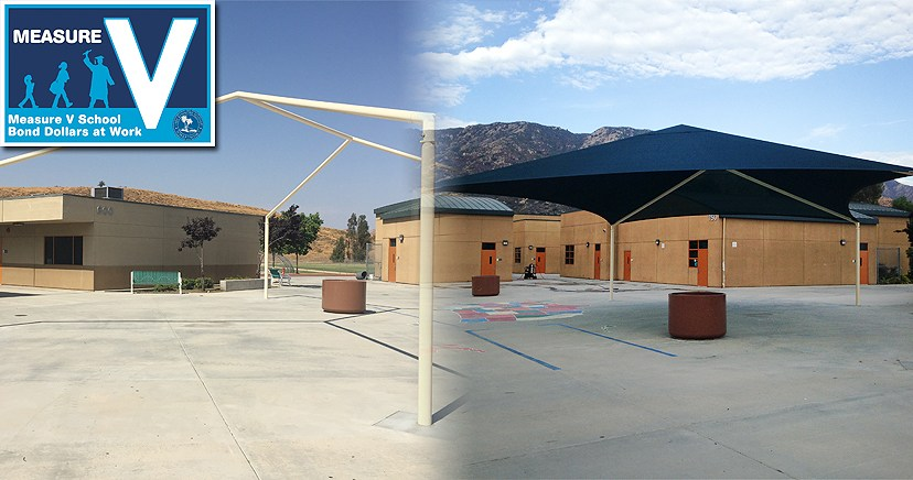 Lakeland Village School: Before and After shade installation