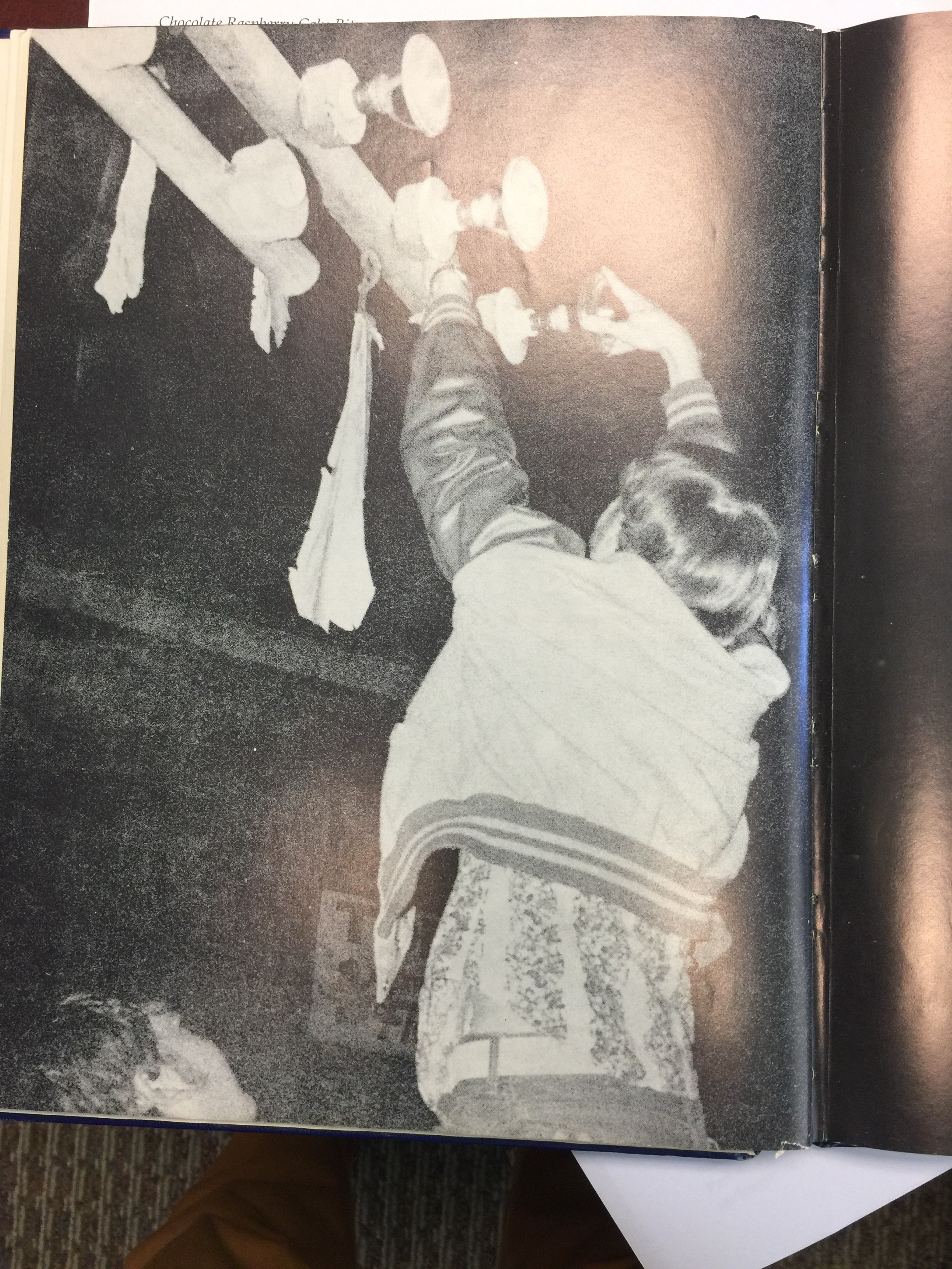 old picture of lighting of the totem pole