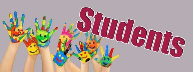 Student graphic with hands with faces painted on them